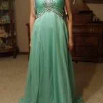 Teal  Blush Prom Dress Photo