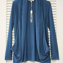Teal Drape Open Knit Cardigan S  Anthropologie Earring Photo