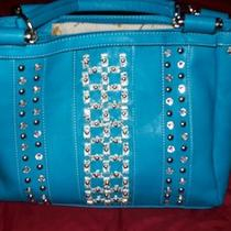 Teal Handbag and Wallet Photo