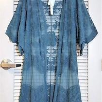 Teal Lace Midi Open Cardigan S/m / Anthropologie Earrings Photo