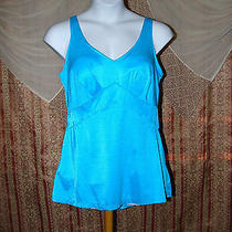 Teal One Piece Bathing Suit by Sea Vogue Size 18 R163 Photo