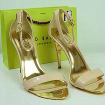 Ted Baker 210 Blush Pink Gold Hardware High Heel Size 10 Usa / Euro 41/ 8 Uk Photo