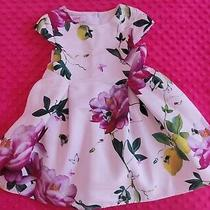 Ted Baker Baby Girl Floral Citrus Bloom Dress Size 18-24 Months Photo