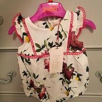 Ted Baker Baby Girls Summer Romper - White Floral Citrus Bloom - Newborn Bnwt  Photo