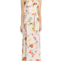 Ted Baker Botanical Bloom / Floral Print Pale Pink Maxi Dresstb Size 1(uk 8 ) Photo