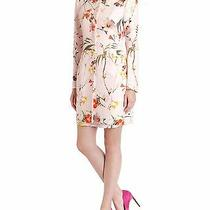 Ted Baker Botanical Bloom Printed Coat Pale Pink Size 3 (8-10 Us) New Photo