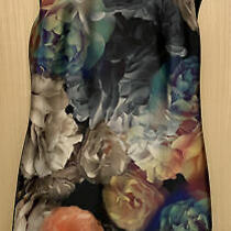 Ted Baker Helaina Technicolour Bloom Black Floral Shift Dress  Size 3 / 12 Photo