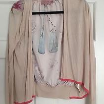 Ted Baker Long Sleeve Blush Cardigan With Floral Print Size 1 S Photo