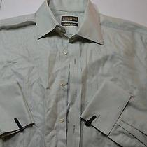 Ted Baker Lotta Green Super Fine Cotton Dress Shirt 15.5 X 36/37 Medium M Photo