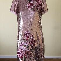 Ted Baker New Rose Gold Embroidered Floral Shift Dress 2/10 Rrp 249 Photo