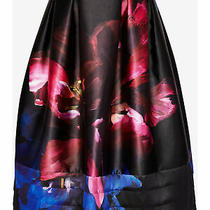 Ted Baker Nuala Impressionist Bloom Skirt Black/multi Bnwt Uk 3 Size 12 Rp 179  Photo