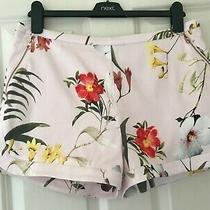 Ted Baker Sz 12 (3) Beautiful Botanical Bloom Floral Pink Shorts Rrp 89  Photo