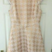 Ted Baker Sz 6 (0) Isslay Rose Gold Blush Pink  Fit  Flare Dress Immaculate Photo