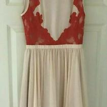Ted Baker Sz 6 (0) Vember Blush Pink Orange Lace Dress fit&flare Immaculate Photo