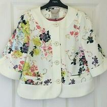 Ted Baker Sz 8 (1) Beautiful Zohe Cream Floral Bloom Print  Jacket Immaculate Photo