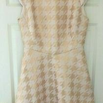 Ted Baker Sz 8 (1) Isslay Rose Gold Blush Pink  Fit  Flare Dress Immaculate Photo