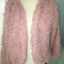 Teddy Bear Fur Blush Pink Lined Crop Womens Jacket M Photo