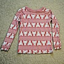 Teddy Bear T Shirt Size 5 Years Baby Gap Brand Long Sleeves Red and White Photo