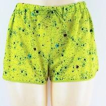 Teen Vogue Elastic Waist Printed Shorts Neon Citrus Junior Xl Lulu Photo