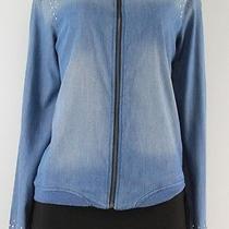 Teen Vogue Long Sleeve Front Zipper Studded Denim Jacket Size M Lulu Photo