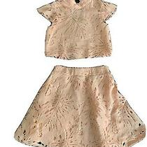 Teenage Girls Blush Lace Top & Skirt by Miss Behave Size 8 Photo
