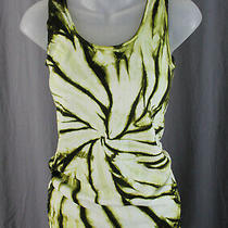 Tees by Tina Women's Green Ivory Tie Dye Print Tank Top One Size Photo