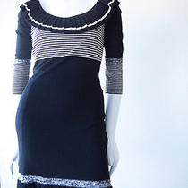 Temperley Black and White Striped Pleated Mini Layla Dress Nwt Sz S Photo