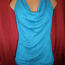 Tempted Aqua Blue Racerback Jersey Tank-Top Size Juniors Large Photo
