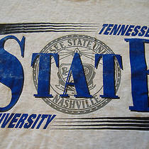 Tennessee State University Nashville Stone Color Graphic Print T-Shirt - L Photo