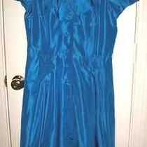 Teri Jon Rickie Freeman Sz 10 Silk Taffeta Aqua Blue  Cocktail Dress Lknu Photo