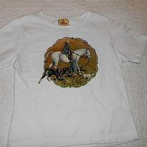 Terra Traditions Swarovski T-Shirt White Boys/girls Kids Hunting Size 4/5 Todds Photo