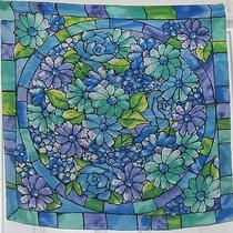 Terriart Bluelavenderlime Stained-Glass Flowers Slk 30