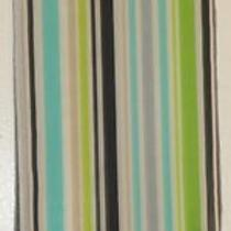 Terriart Lime Aqua Black White Stripes Sheer Long Scarf-Vintage Photo