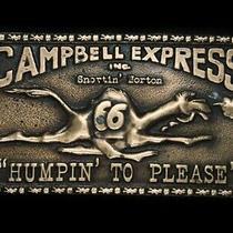 Tf09166 Vintage 1970s Campbell Express Inc. Snortin' Norton Belt Buckle Photo