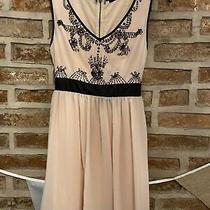 Tfnc Blush Pink Black Sequin Dress L 10 12 Photo