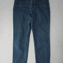 Tg11455 Not Your Daughter's Jeans Relaxed Fit Womens Jeans Sz10p Dark Blue Photo