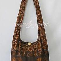Thai Bag Hippie Hobo Shoulder Sling Cross Body Zip Cotton Unisex Women Men Xl B2 Photo