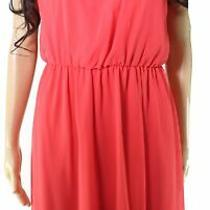 Thalia Sodi Womens Dress Classic Coral Orange Size Xs Shift Bloom Chain 89- 140 Photo