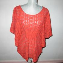 The Addison Story Anthropologie Flutter Sleeve Top Stitch Design Shirt S Photo