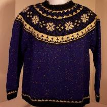 The America Collection Knit by Hand the Limited 100% Wool Sweater M Knitted  Photo