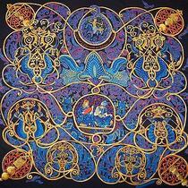 The Art of Hermes Scarf La Charmante Aux Animaux Gm 140 Cashmere & Silk New Box  Photo