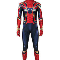 The Avengers 4 Endgame Peter Parker Jumpsuit Halloween Cosplay Costume Photo