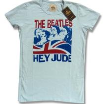 The Beatles & Trunk Ltd Designer 'Hey Jude' Aqua Blue T-Shirt Ladies Medium Photo