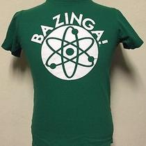 The Big Bang Theory Bazinga Green T-Shirt Size Medium. Free Shipping Photo