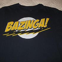 The Big Bang Theory Bazinga Navy Sheldon Licensed Cbs Tv Vintage Shirt Medium Photo