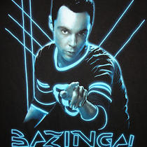 The Big Bang Theory Bazinga T-Shirt Black 2x Photo