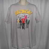 The Big Bang Theory Bazinga Tv Series Gray T Shirt Sz Xl New Photo