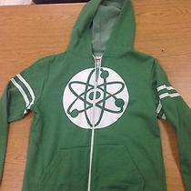 The Big Bang Theory Green Hoodie Hooded Sweatshirt Medium Tv Rare Lounge Sheldon Photo