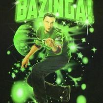 The Big Bang Theory Mens Sheldon Cooper  T-Shirt Tv Series Bazinga Size Large Photo