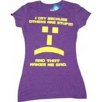 The Big Bang Theory -- Others Are Stupid Emoticon -- Juniors Tee X-Large Photo